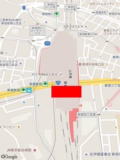 新宿南口に誕生予定!JR新宿ミライナタワー